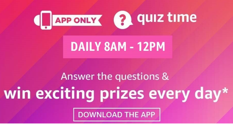 Amazon Quiz Answers Win Exciting Prizes Toady – 5th May 2020