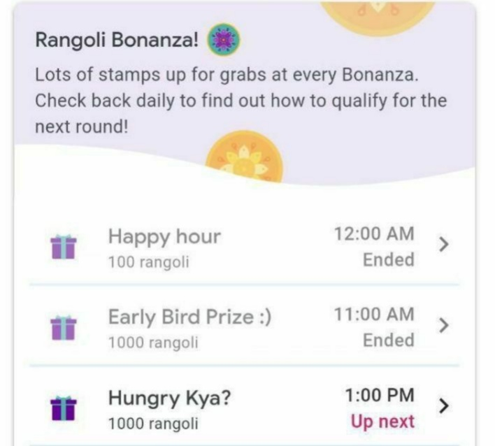 Google Pay Rangoli Bonanza Event