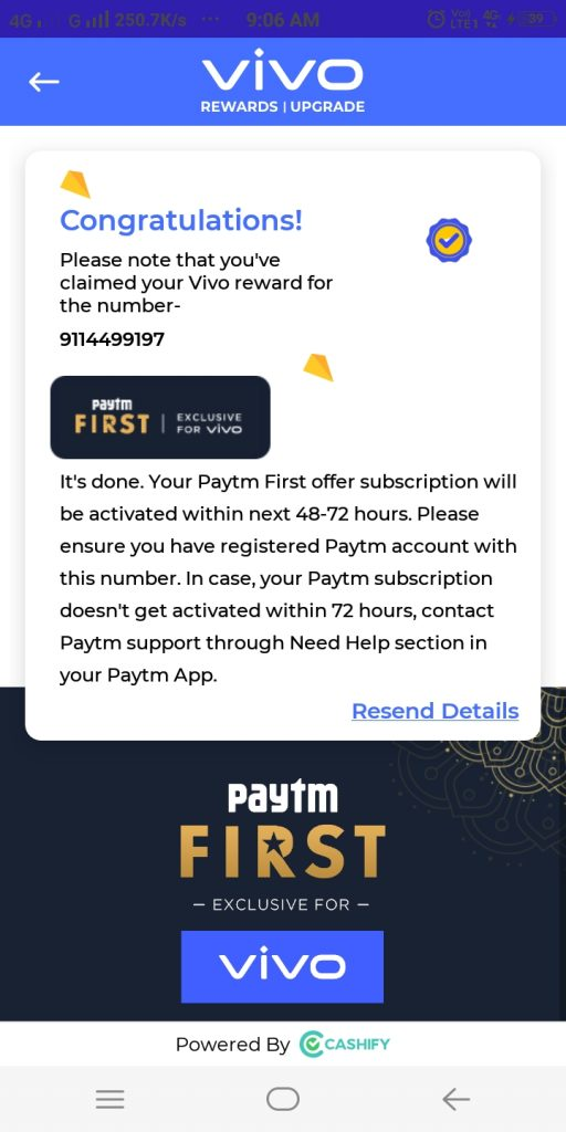 Free Paytm First