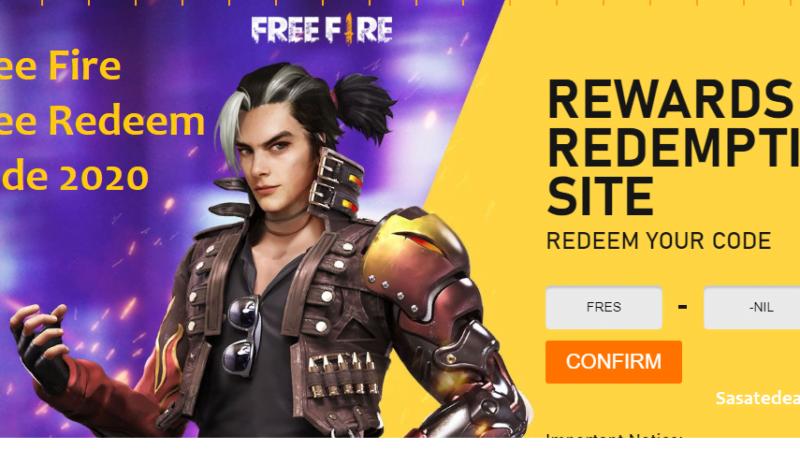Garena Free Fire Redeem Codes 2020 –  Free Fire Redeem Code