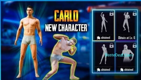 PUBG Mobile Free Carlo Character Voucher