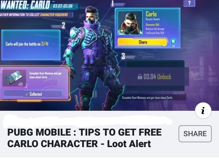 Free Carlo Character