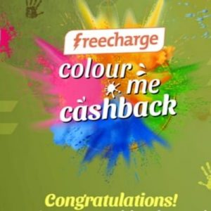 Freecharge Holi Offer – Get Colour Me Cashback Upto ₹200