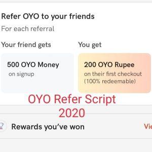 Oyo Refer Script 2020 – Oyo Rooms Lootscript