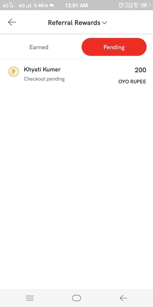 Oyo Refer Rupees