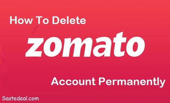 Delete Zomato Account