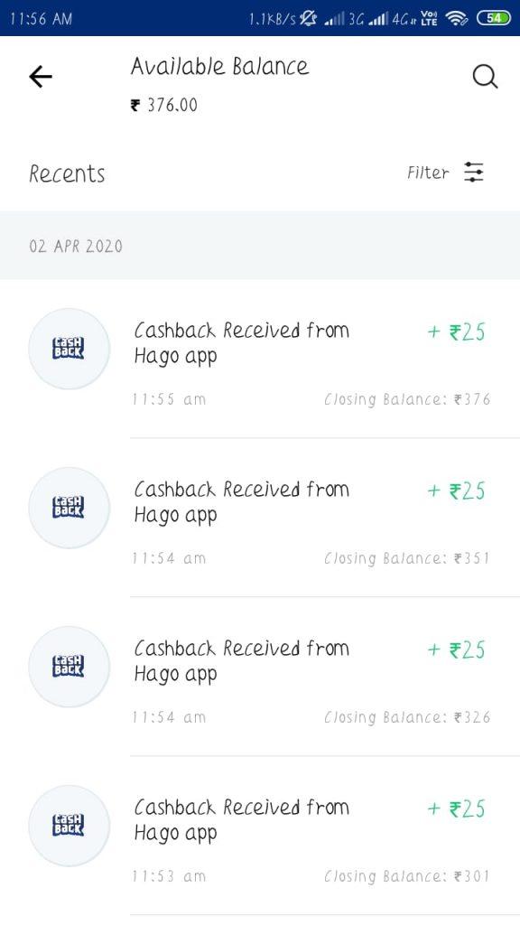 Hago app Referral payemnt proof