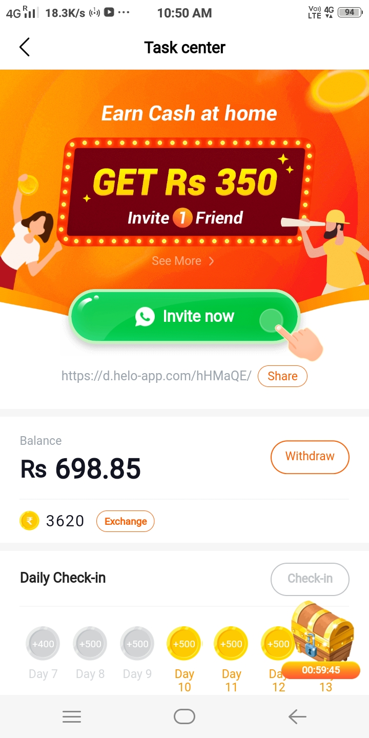 Helo App Referral Code CQYFDRD – Download And Earn Rs.350
