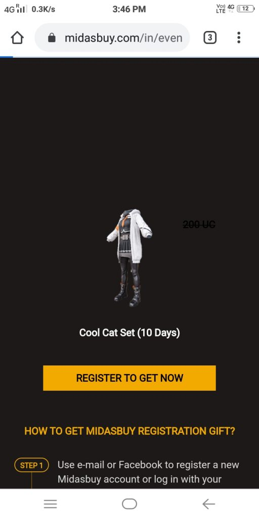 PUBG Free Cool Cat Outfit