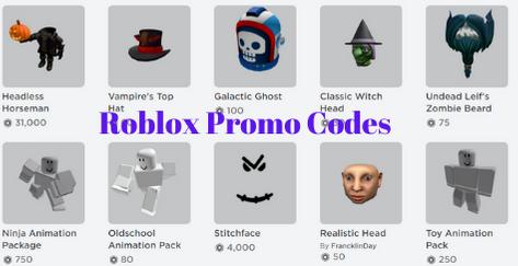 Roblox Promo Codes 2021