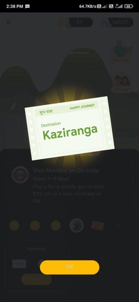 Tricks To Get Kaziranga Ticket For Google Pay