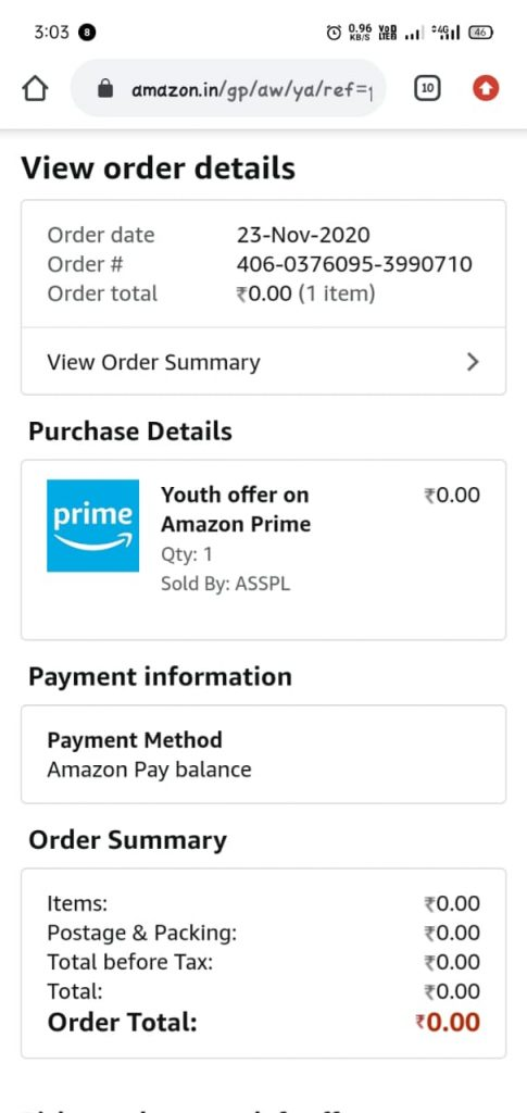 Amazon Prime Youth Online Script For Idea Vodafone Users