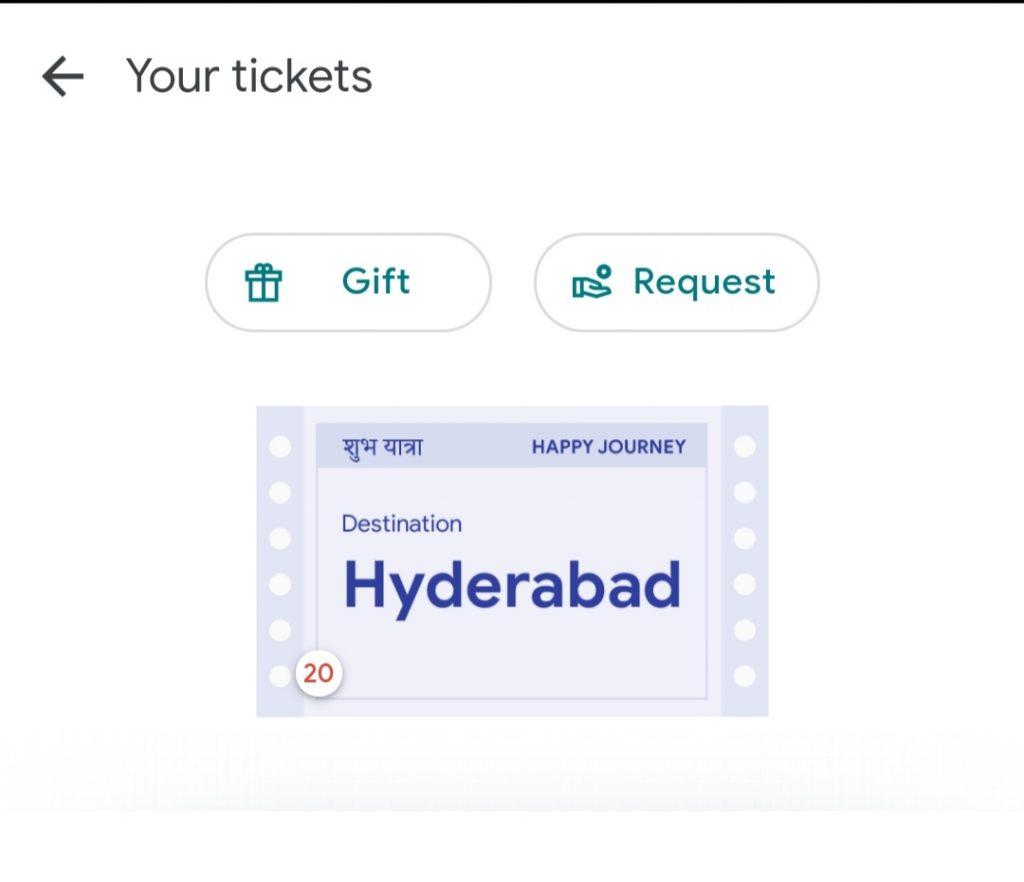 Trick To Get Hyderabad Ticket
