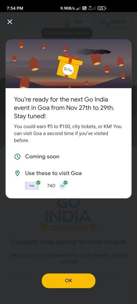 Google Pay Go India Goa Event Quiz Answers