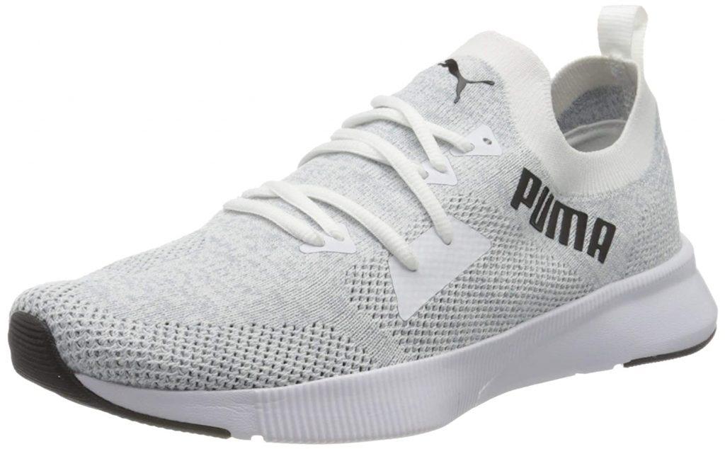 Puma Men's Flyer Runner Engineer Knit White-qu Running Shoe