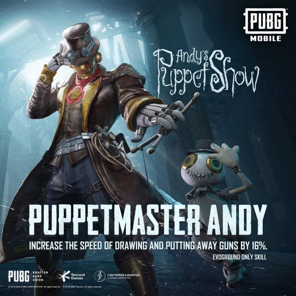 PUBG Mobile Andy Character Redeem For Free
