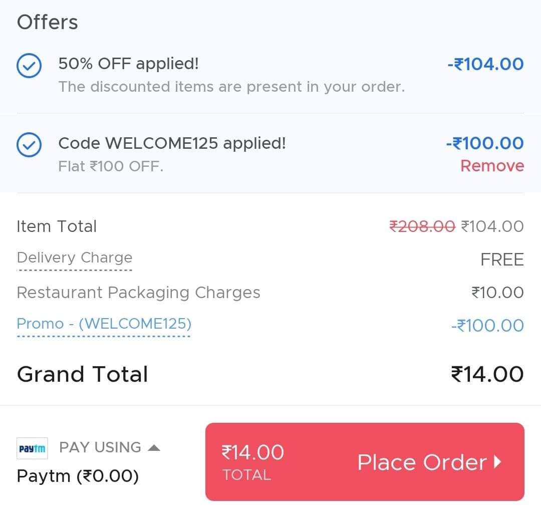 Zomato Free Food Worth ₹200