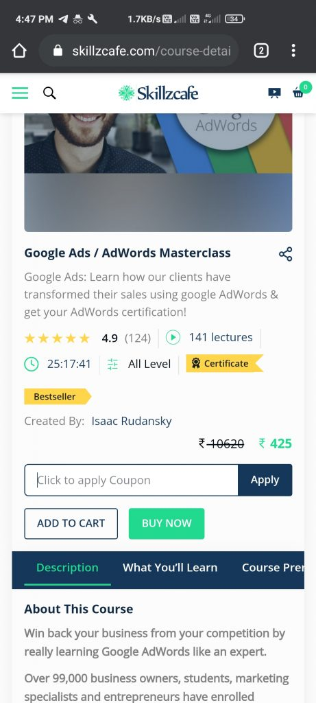 How To Use Skillzcafe Coupon Code To Get Free Course