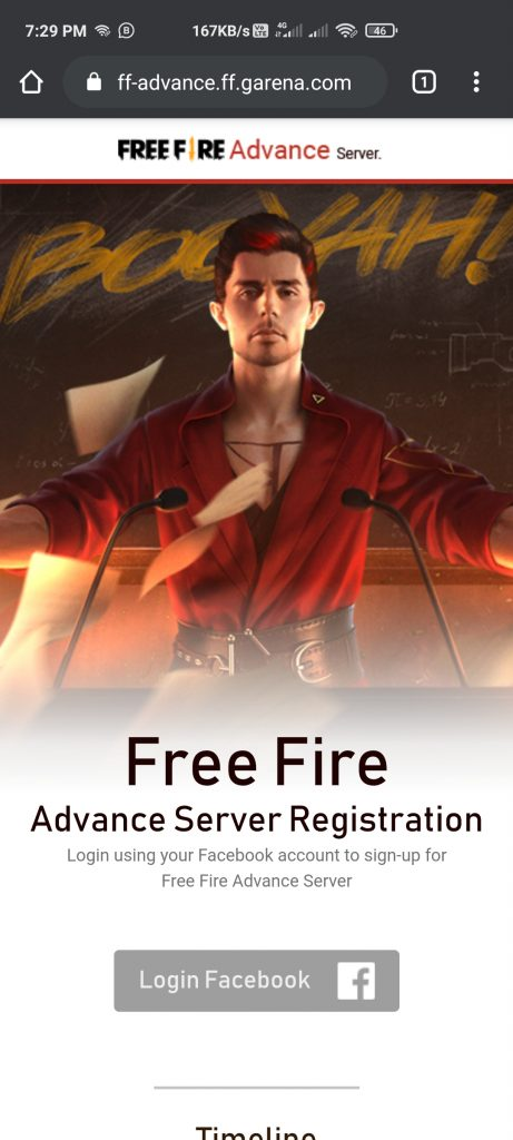 Free Fire Advance Server OB25 Update Download