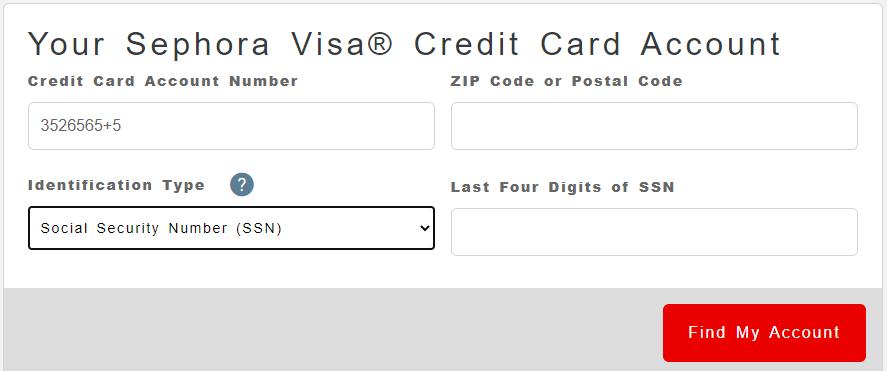 Register For Sephora Credit Card Account