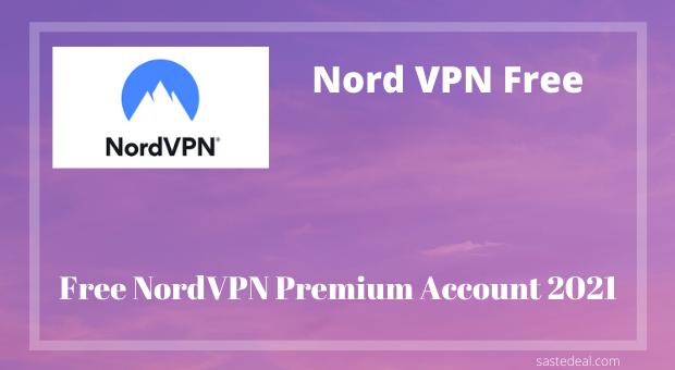 Nord VPN free premium account
