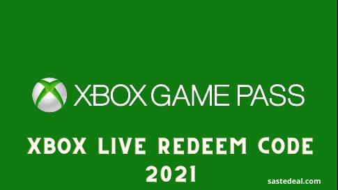 Xbox Live redeem codes 2021