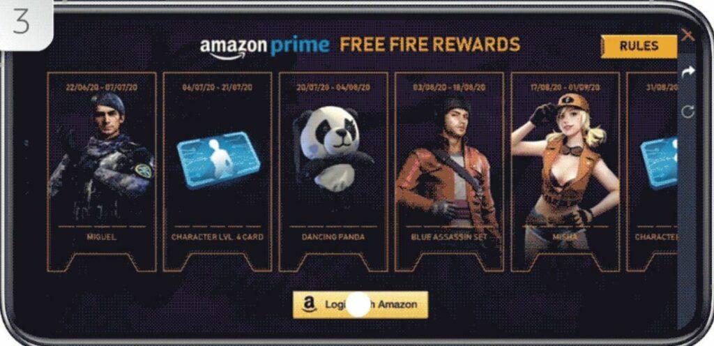 Free Fire Amazon Prime Rewards Event