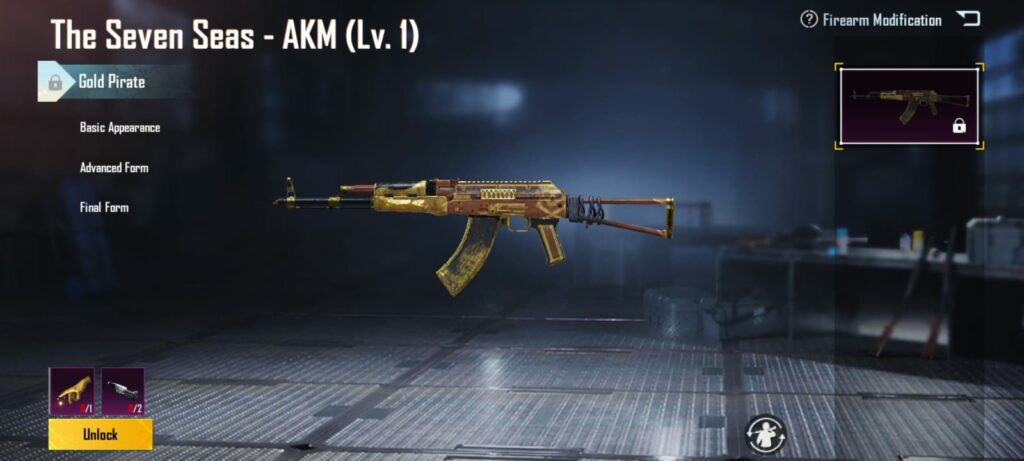 How To Get Free AKM Golden Pirate Skin