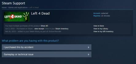 Final Step To get Refund A Game On Steam