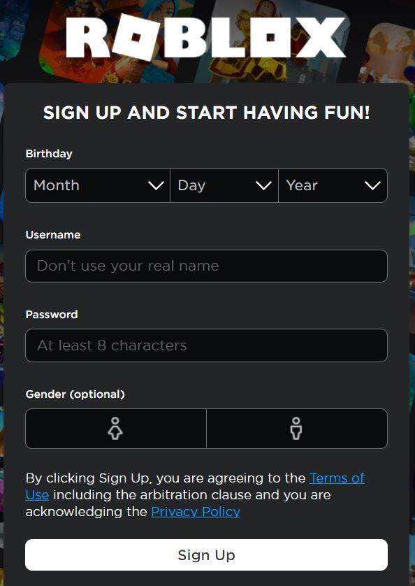 Roblox Signup